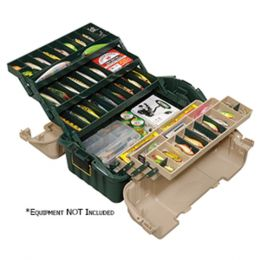 Plano Hip Roof Tackle Box w/6-Trays - Green/Sandstone