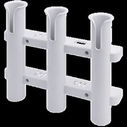 Sea-Dog Three Pole Rod Storage Rack - White